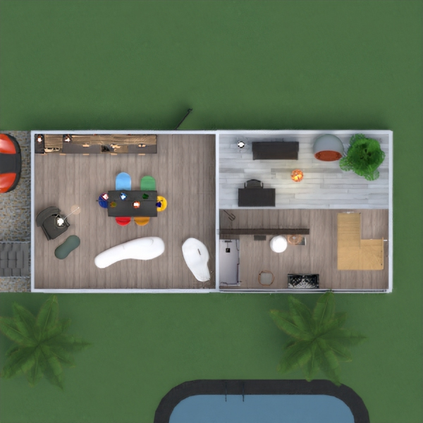 floorplans house terrace bathroom bedroom outdoor 3d