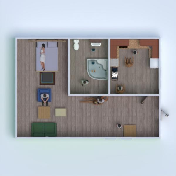 планировки ванная кухня 3d