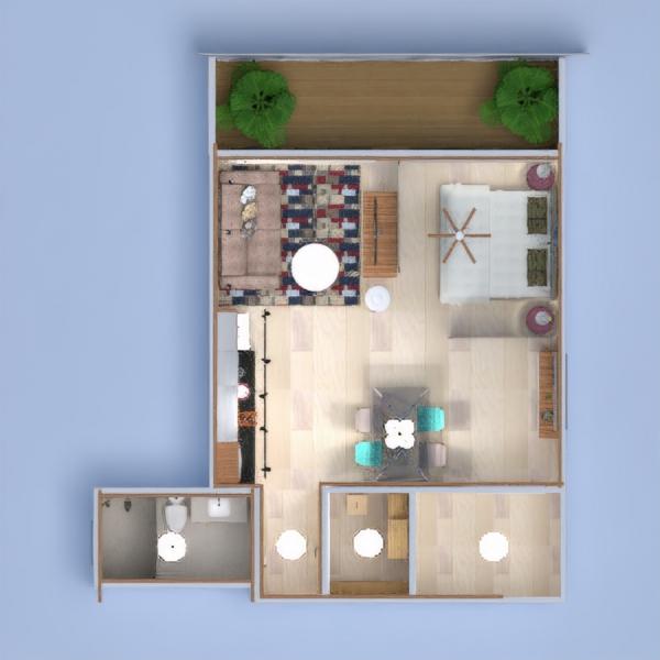 floorplans wohnung dekor küche beleuchtung esszimmer architektur lagerraum, abstellraum studio 3d