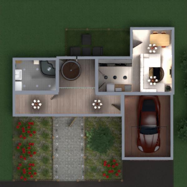 floorplans namas vonia miegamasis garažas аrchitektūra 3d