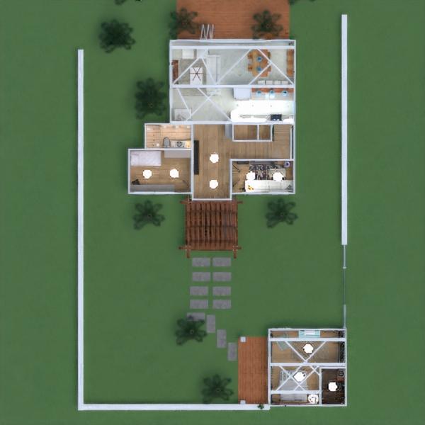 floorplans haus mobiliar badezimmer schlafzimmer wohnzimmer küche outdoor beleuchtung landschaft haushalt esszimmer architektur lagerraum, abstellraum studio eingang 3d