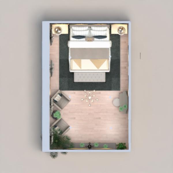 floorplans furniture decor bedroom living room lighting 3d