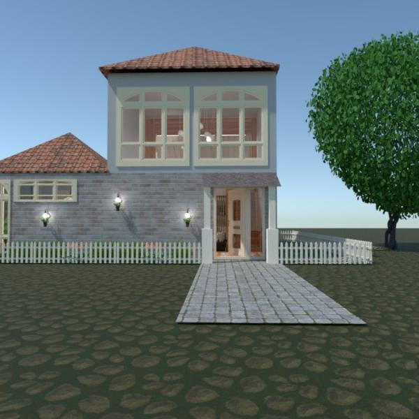 планировки дом ванная спальня кухня улица 3d