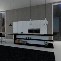 floorplans apartamento mobílias quarto cozinha iluminação sala de jantar arquitetura 3d