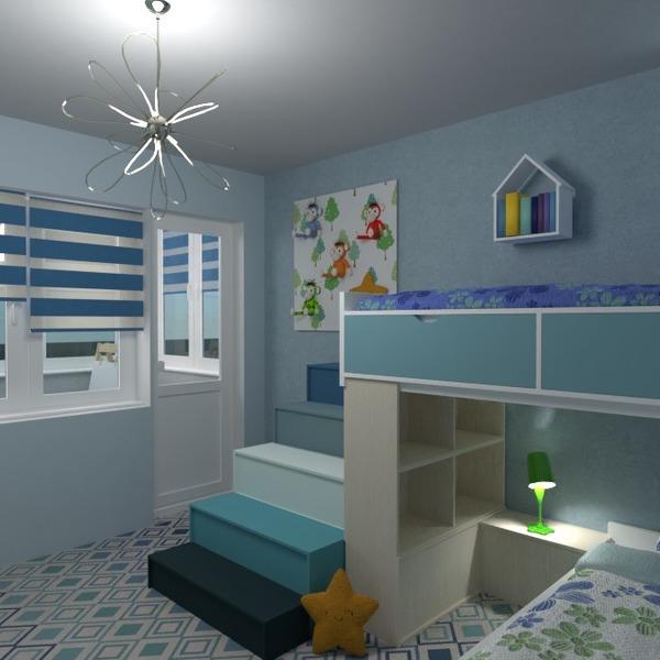progetti arredamento decorazioni cameretta monolocale 3d