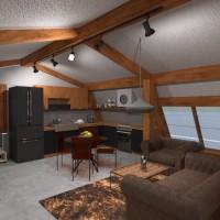 planos casa muebles dormitorio salón cocina exterior 3d