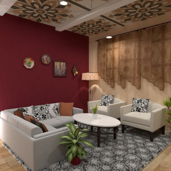 planos decoración salón cocina comedor 3d