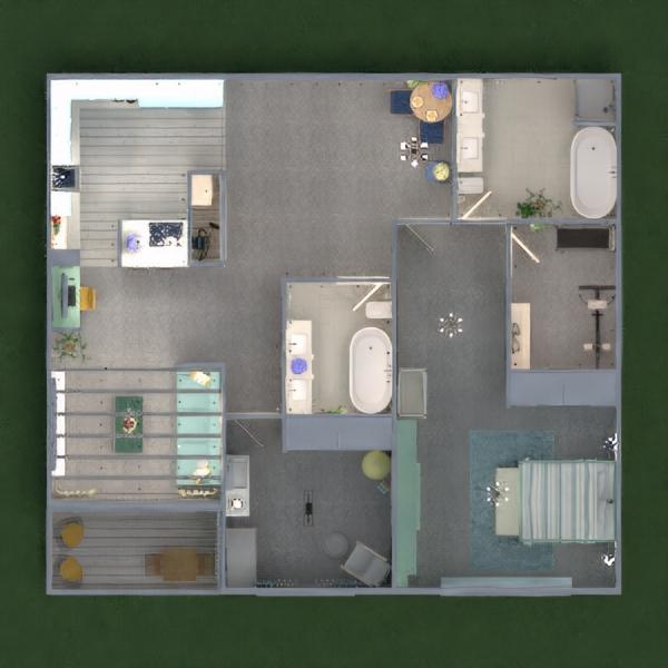floorplans apartamento decoração iluminação 3d