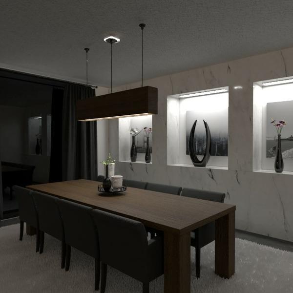 planos casa muebles decoración comedor arquitectura 3d