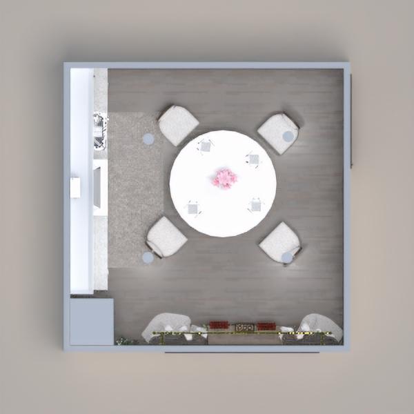 floorplans furniture dining room 3d