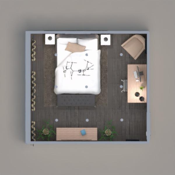 floorplans decoração quarto iluminação 3d