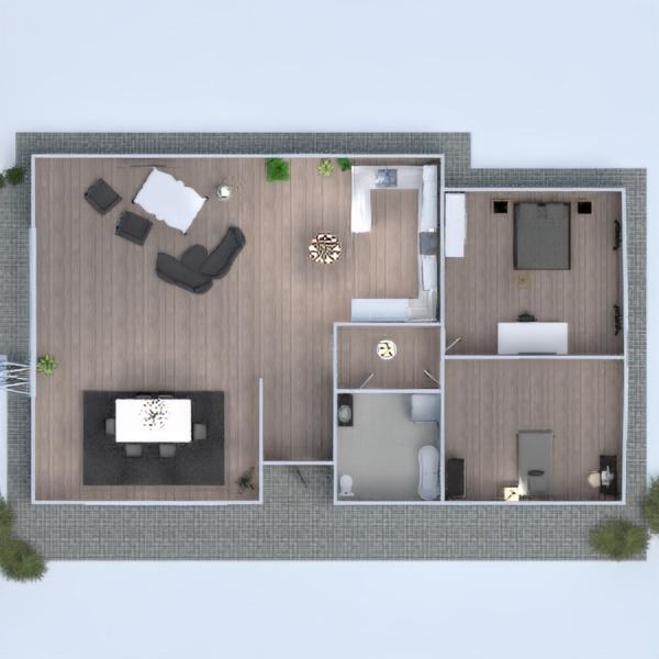 floorplans casa cozinha iluminação sala de jantar arquitetura 3d