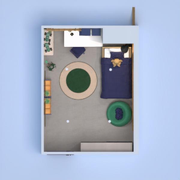 планировки дом мебель спальня детская освещение 3d