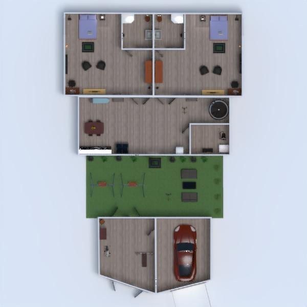floorplans namas dekoras miegamasis garažas namų apyvoka аrchitektūra 3d