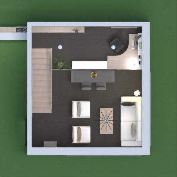 floorplans living room kitchen office dining room 3d