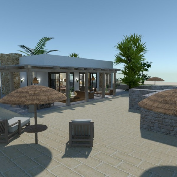 planos casa muebles cuarto de baño dormitorio exterior 3d