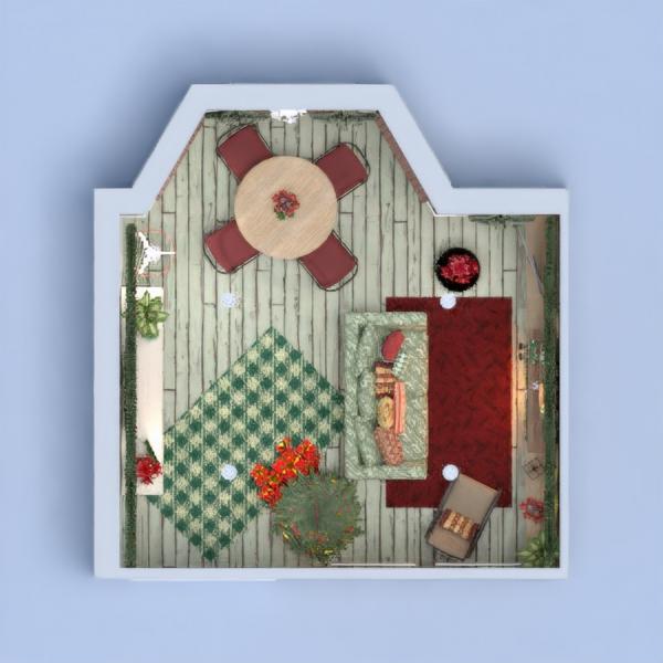 planos casa muebles decoración salón comedor 3d