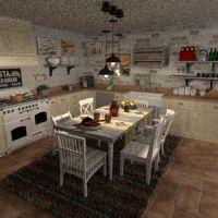 floorplans mobílias quarto cozinha sala de jantar 3d
