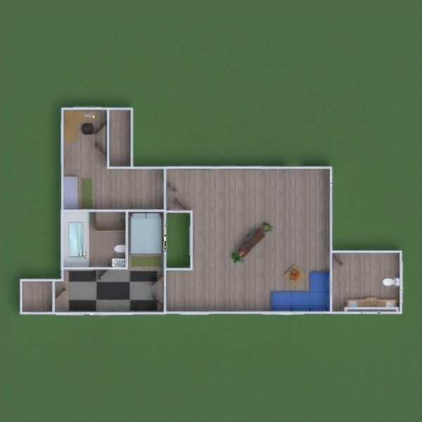floorplans terasa dekoras eksterjeras kraštovaizdis prieškambaris 3d