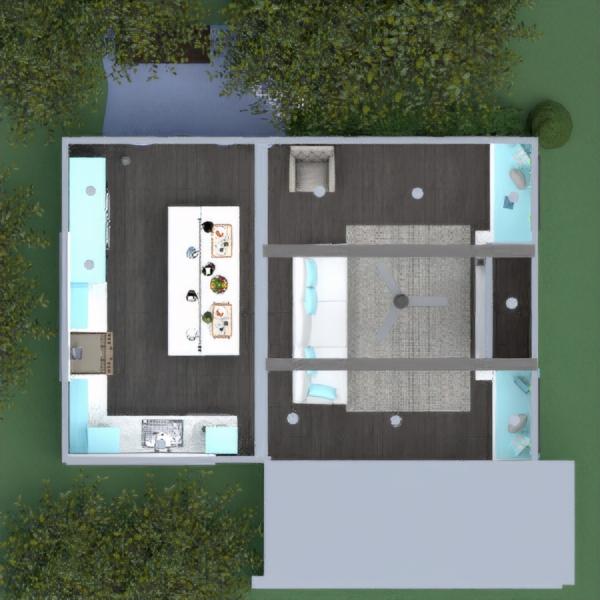 планировки дом гостиная кухня освещение студия 3d