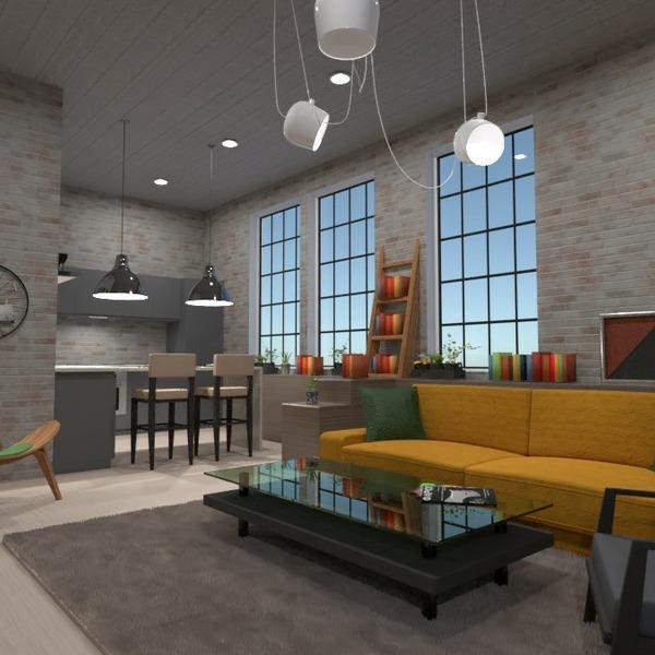 progetti arredamento decorazioni saggiorno cucina illuminazione 3d
