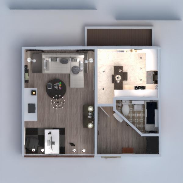 floorplans wohnung mobiliar dekor badezimmer schlafzimmer wohnzimmer küche beleuchtung renovierung esszimmer lagerraum, abstellraum 3d