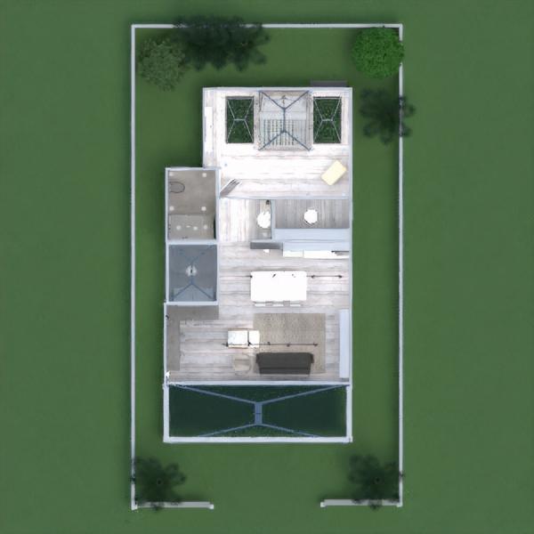 floorplans haus mobiliar dekor badezimmer schlafzimmer wohnzimmer küche beleuchtung architektur lagerraum, abstellraum eingang 3d