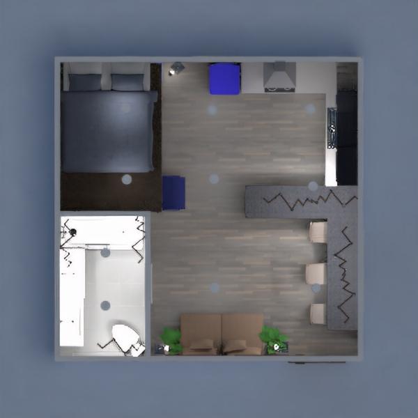 планировки квартира мебель студия 3d