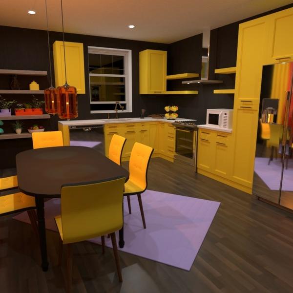 floorplans mobílias decoração cozinha sala de jantar 3d
