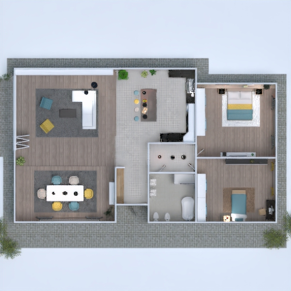 планировки дом мебель архитектура 3d