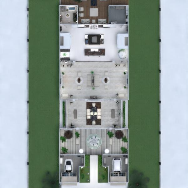 planos cuarto de baño dormitorio cocina arquitectura descansillo 3d