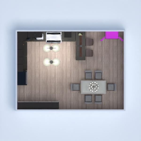 floorplans cozinha sala de jantar 3d