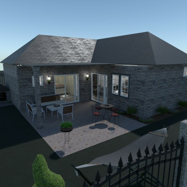 floorplans house living room kitchen landscape 3d