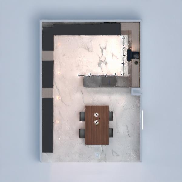 floorplans house kitchen lighting household dining room 3d