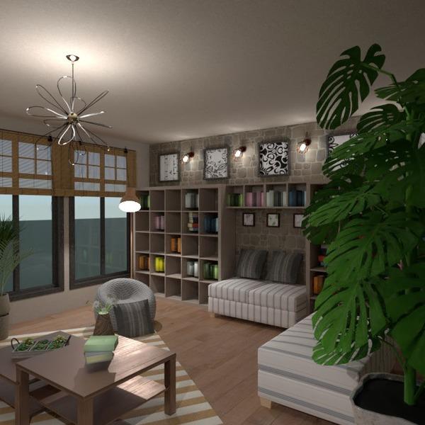 planos muebles decoración salón iluminación 3d