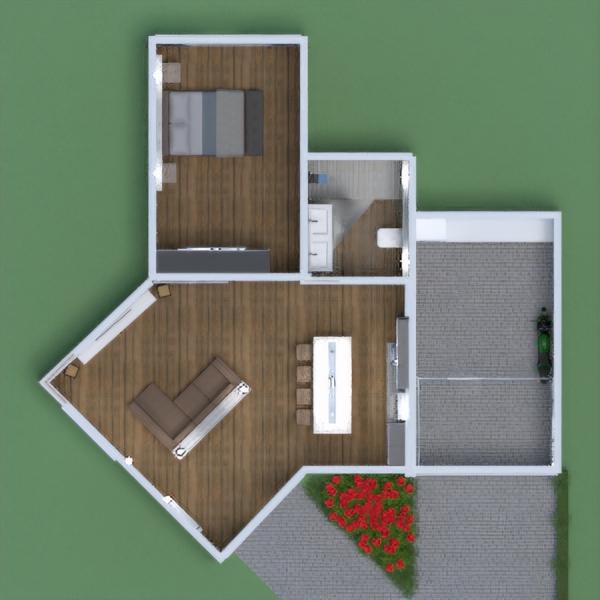 floorplans namas miegamasis svetainė garažas studija 3d
