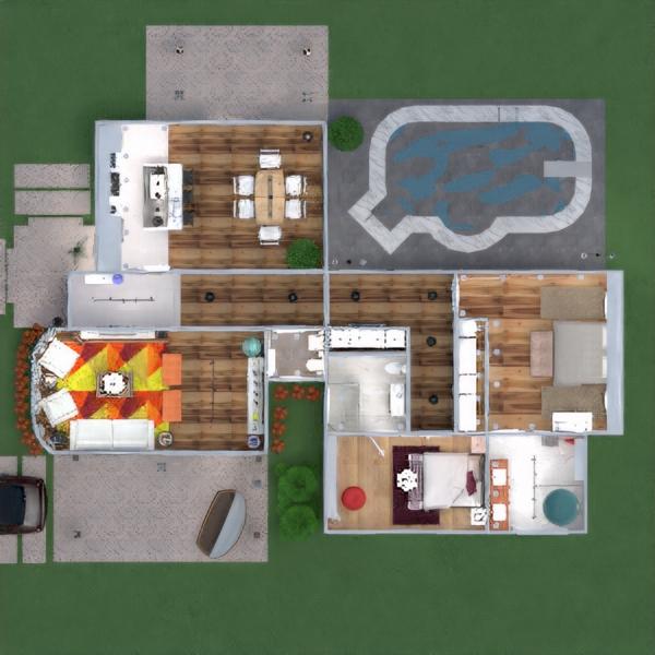 floorplans haus terrasse mobiliar dekor badezimmer schlafzimmer wohnzimmer garage küche outdoor beleuchtung renovierung landschaft haushalt café esszimmer architektur lagerraum, abstellraum eingang 3d
