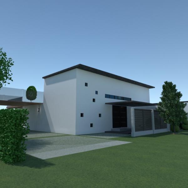 floorplans dom taras pokój dzienny kuchnia na zewnątrz 3d