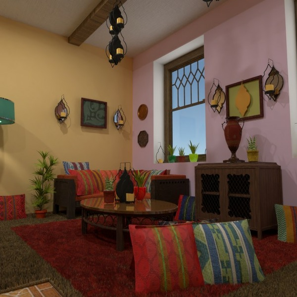 planos muebles decoración salón cocina comedor 3d