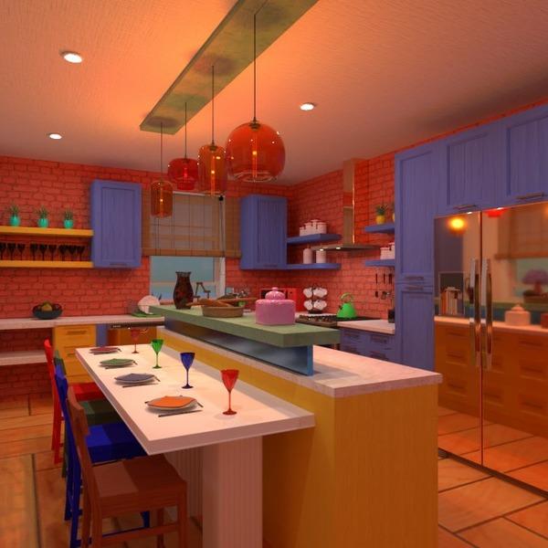 floorplans meble wystrój wnętrz kuchnia jadalnia przechowywanie 3d