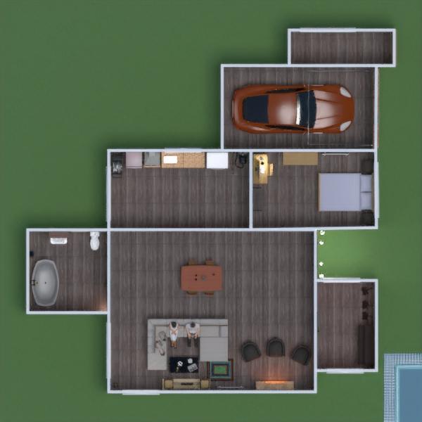 floorplans dom pokój dzienny garaż gospodarstwo domowe jadalnia 3d