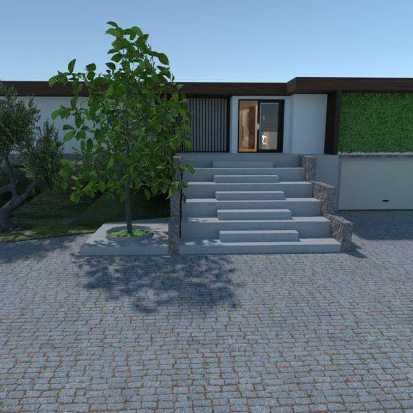 planos casa muebles exterior iluminación 3d