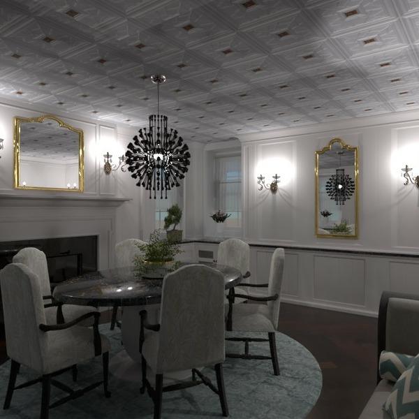 планировки квартира мебель декор освещение столовая 3d
