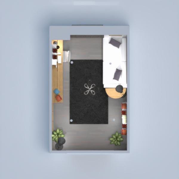 floorplans escritório iluminação 3d