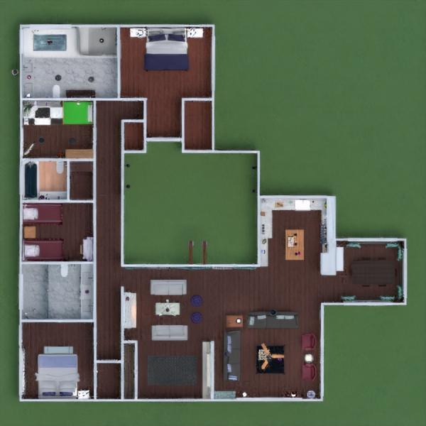 floorplans namas dekoras pasidaryk pats vonia miegamasis svetainė virtuvė eksterjeras vaikų kambarys kraštovaizdis prieškambaris 3d