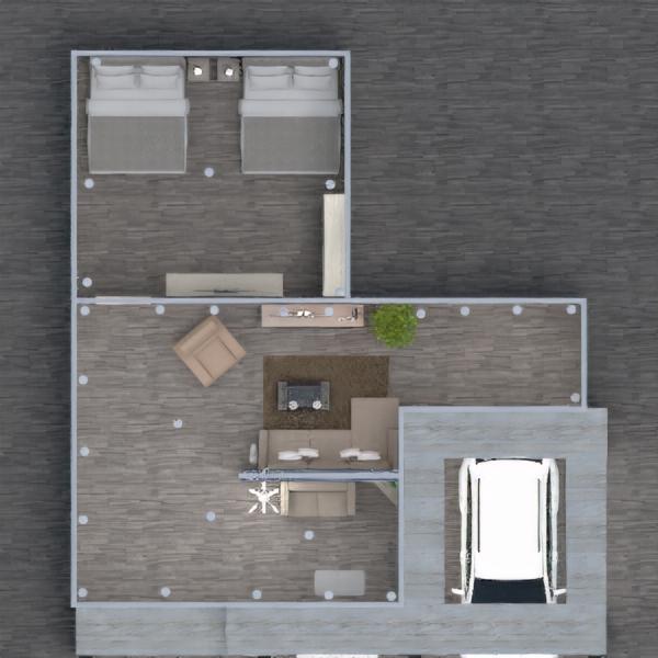 floorplans house garage outdoor 3d