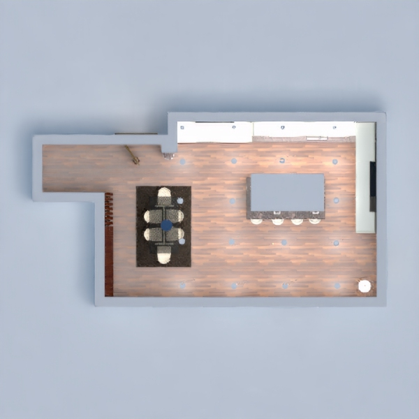 floorplans apartment house kitchen household dining room 3d