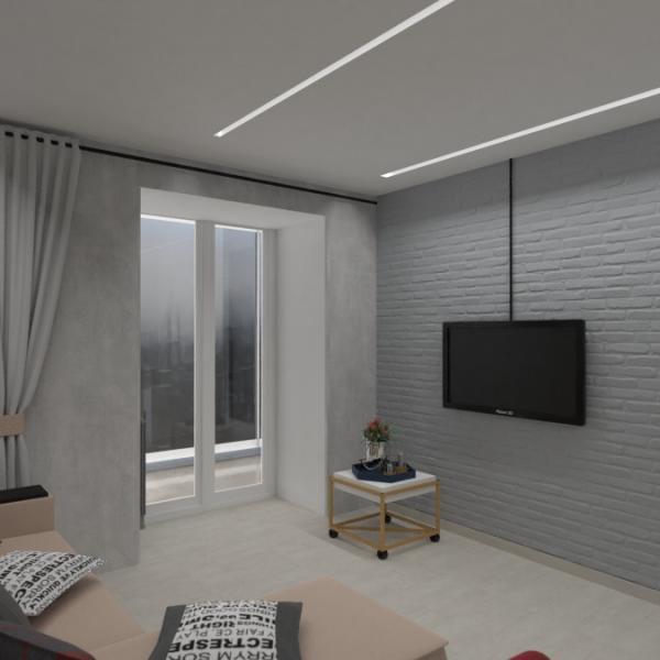 floorplans apartment house furniture living room kitchen 3d