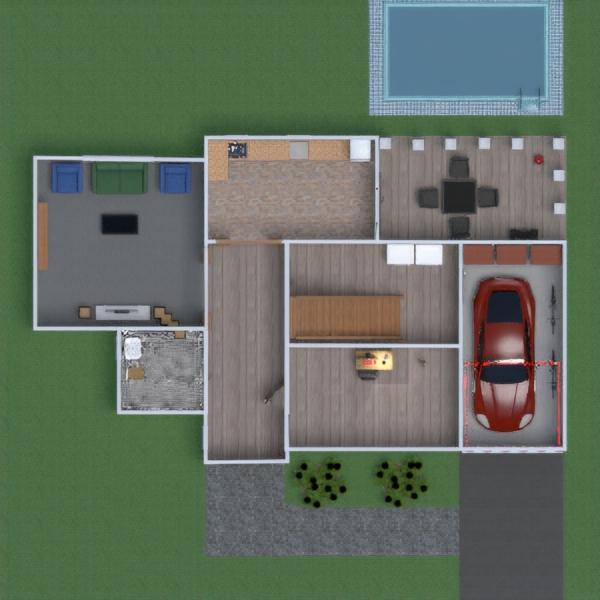 floorplans vonia miegamasis svetainė garažas 3d