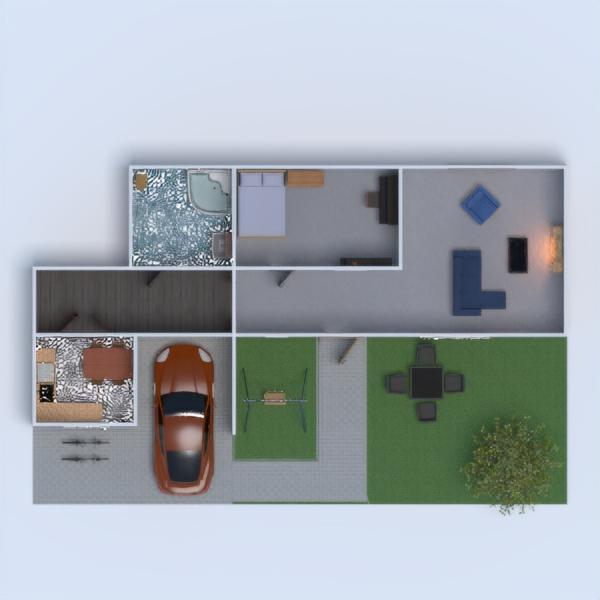 floorplans vonia miegamasis svetainė garažas eksterjeras 3d